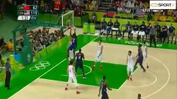 پیروزی قاطعانه تیم ملی بسکتبال آمریکا مقابل چین (آمریکا119-62چین) - المپیک ریو2016