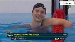 رکورد باورنکردنی کیتی لدکی در شنای آزاد 800متر زنان - المپیک ریو 2016