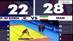 خلاصه بازی تیم ملی کبدی ایران در مقابل کرهجنوبی