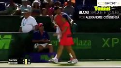حرکات جوانمردانه بازیکنان و لحظات احساسی بازی تنیس